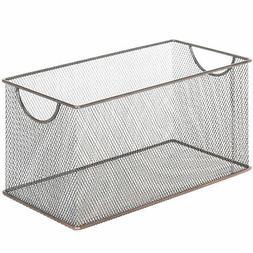 copper tone metal mesh desktop media storage