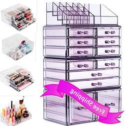 Readaeer Makeup Cosmetics Organizer Storage Display Boxes wi