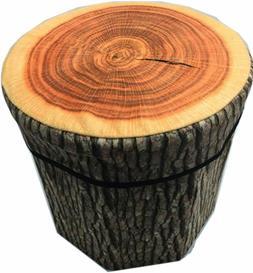 creative tree stump storage ottomans clothing box