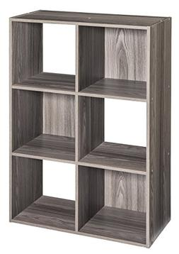 ClosetMaid 4166 Cubeicals Organizer, 6-Cube, Natural Gray