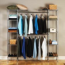 Custom Closet Organizer Shelves System Kit Expandable Clothe