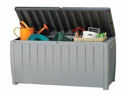 Premium Deck Box Patio Pool Storage Waterproof Bench Keter 9