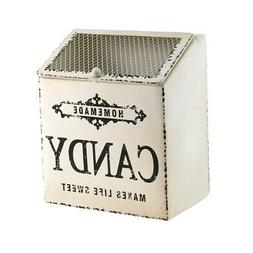 Decorative Antique Tin Candy Container Metal Storage Box Vin