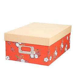 Darice Decorative Photo Storage Box Coral Floral
