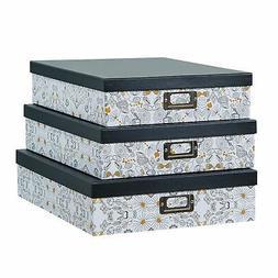 SLPR Decorative Storage Cardboard Boxes with Metal Plate   