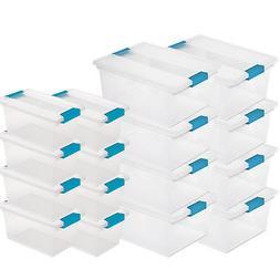 Sterilite Deep Clip Storage Box Container  + Medium Clip Box