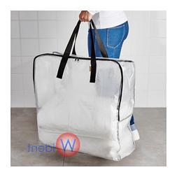 IKEA DIMPA Zippered Storage Bag Clear