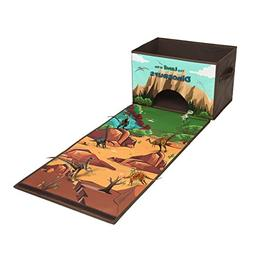 Livememory Dinosaurs Kids Toy Storage Box Play Mat Toys Stor
