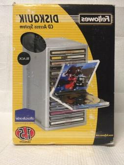 FELLOWES DISKQUIK CD DVD ACCESS STORAGE BOX SYSTEM NEW OLD S