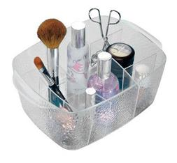 InterDesign Divided Cosmetic Bin, Clear