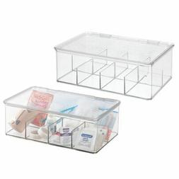 mDesign Divided First Aid Kit Storage Bo