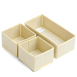 EZOWare Set of 3 Drawer Organizer Boxes Closet/Dresser/Nurse
