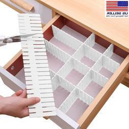 Drawer Divider 8pcs Adjustable DIY Storage Organizer Separat