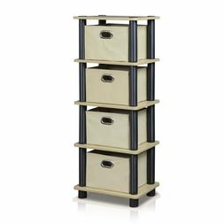 Drawers Storage Bins Rack Home Office Organizer Fabric Baske