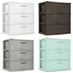 3 Drawer Plastic Storage Cart Storage Dresser Organizer Towe