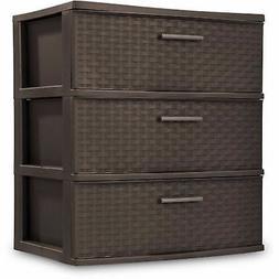 Sterilite Dresser Storage Plastic Cart Clothes Organizer Cab