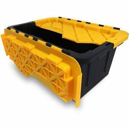 Durabilt 15-Gallon Stackable Flip Lid Tough Tote, Set of 6
