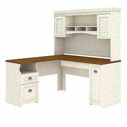 durable surface l shaped desk hutch antique