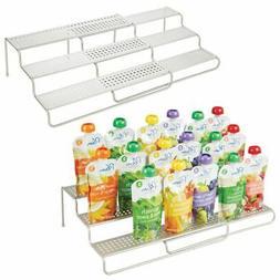 mDesign Expandable Kitchen Organizer Baby Food Rack Holder