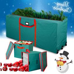 Extra Large Christmas Tree Storage Bag Wheels+Xmas Ball Orna