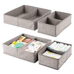 mDesign Soft Fabric Dresser Drawer and Closet Storage Organi