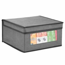 mDesign Fabric Closet Storage Organizer Box, Medium