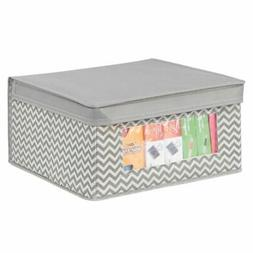 mDesign Fabric Closet Storage Organizer Box, Medium