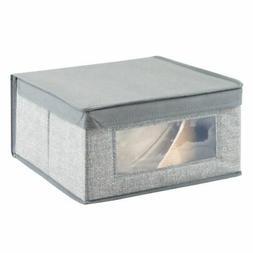 mDesign Fabric Closet Storage Organizer Box - Medium