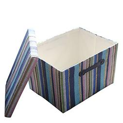 TheWarmHome Decorative Storage Box with Lid for Office Organ