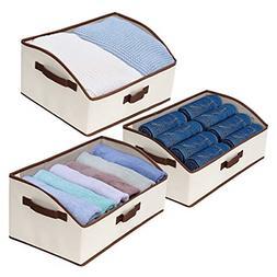 Fabric Storage Baskets Foldable Closet Organizer Trapezoid S