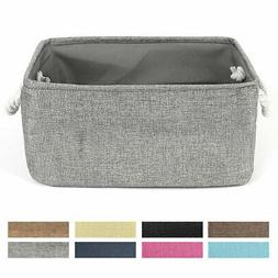 Fabric Storage Bin Basket with Rope Handles for Laundry Clot