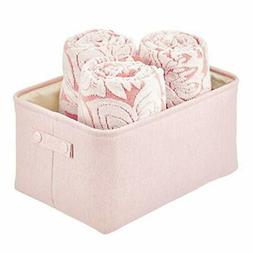 mDesign Fabric Storage Box — Household Storage Basket with