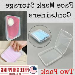 Face Mask Storage Container 2 Pack Set; PP Protection Case B