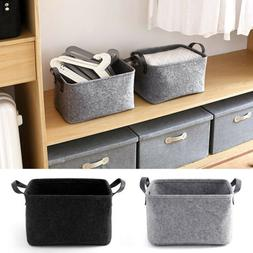 Fashion Storage Basket Closet Toy Shelf Box Desktop Laundry