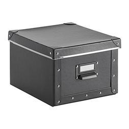 Fjalla Home Office Storage Box With Lid - Dark Gray