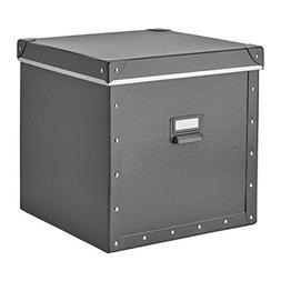 IKEA Fjalla Storage Box With lid Dark Gray 204.040.19 Size 1