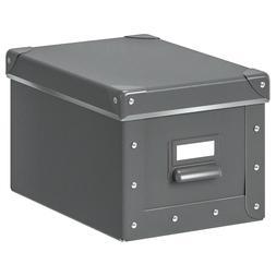 IKEA Fjalla Storage Box With lid Dark Gray 703.956.73 Size 7