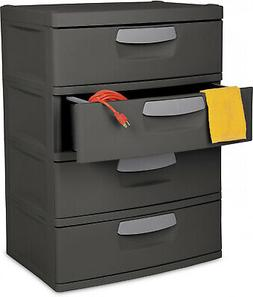 flat gray 4 drawer unit heavy duty