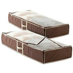 Flexible Zippered Underbed Storage Bag  for Comforter, Blank