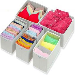 Foldable Cloth Dresser Drawer Organizer Drawer Divider Stora