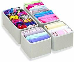 Foldable Cloth Storage Box Closet Dresser Drawer Divider Set