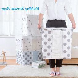 Foldable Clothes Quilt Storage Bag Box Case Clothing Blanket