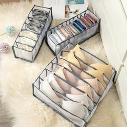 Foldable Drawer Organizer Divider Closet Storage Box For Und