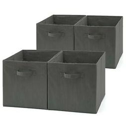EZOWare Set of 4 Foldable Fabric Basket Bin, Collapsible Sto