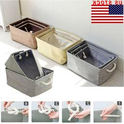 Foldable Fabric Cloth Storage Box Household Organizer Cube B
