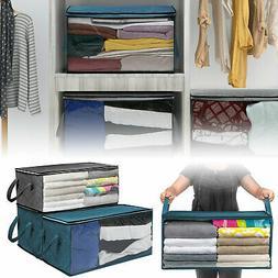 foldable home closet storage bag clothes quilt
