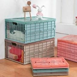 Foldable Plastic Folding Storage Container Basket Crate Box