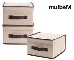 StorageManiac Foldable Natural polyester Canvas Storage Box,
