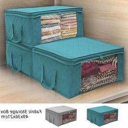 Foldable Storage Bag Clothes Blankets Quilt Container Box Po