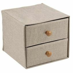 Foldable Storage Bins - 2-Drawer Mini Fabric Drawer, Closet